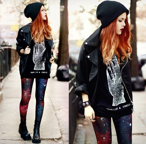 Light This City (by Lua P) http://lookbook.nu/look/4484185-Light-This-City Omg love this girl's sense of fashion and LOVE her hair!