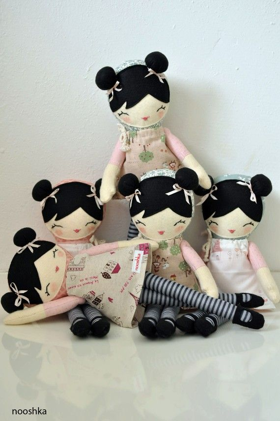 5 Nature dolls reserved for Christine by nooshka on Etsy
