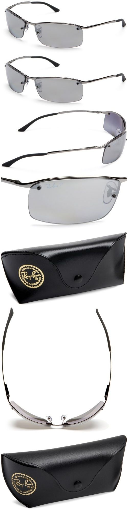 do ray ban prescription sunglasses have logo  ray ban sunglasses 63 mm slick shades that like speed. the features a lightweight semi rimless rectangular shape. the temples feature a classic ray ban?