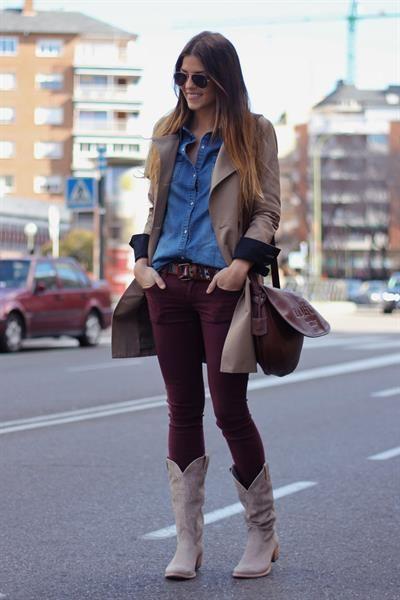 Ковбоиские сапоги и джинсы