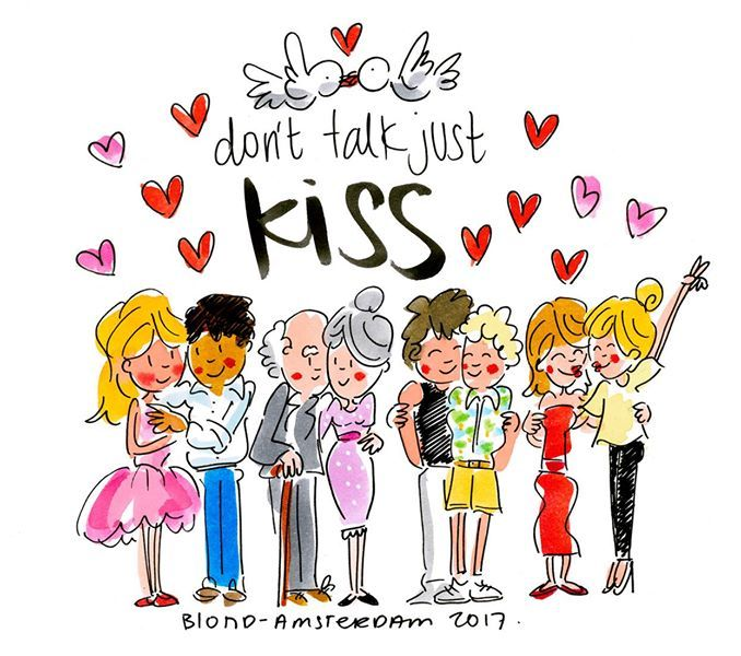 Don't talk, just kiss! World Kiss Day by Blond-Amsterdam