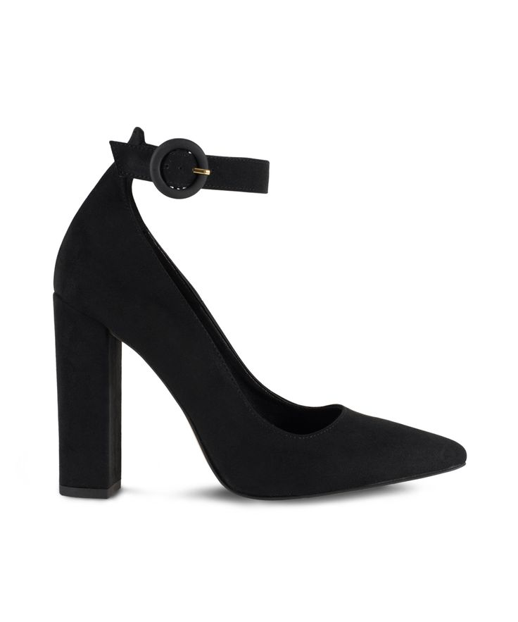SANTE classic pointed toe with ankle strap for wow office attires... Black
