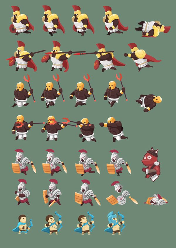 2d Game Character Sprite Sheet on Behance