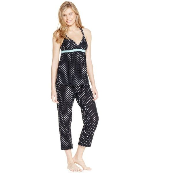 Pj Couture Mesh Insert Babydoll and Pajama Pants Set ($28) ❤ liked on Polyvore featuring intimates, sleepwear, pajamas, polka dot, babydoll sleepwear, baby doll sleepwear, polka dot pj pants, polka dot pajamas and doll pajamas