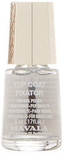 TOP COAT MAVALA NAIL LACQUER: Mavala Top Coat Fixator Pour Vernis 5 ml s'applique après le vernis. Incolore, il forme un film protecteur…