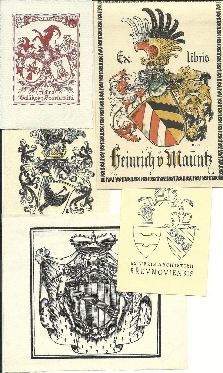 Heraldické exlibris 5 ks různé (6603134985) - Aukro - největší obchodní portál