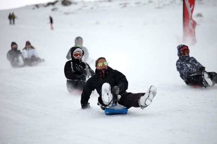 Bum-boarding down the slopes at Afriski Mountain Resort in Lesotho, is great fun for the entire family.