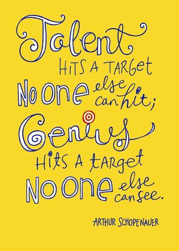 Talent and genius