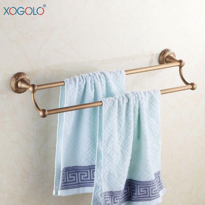 Дешевое Xogolo европейские антикварные бар ванная комната полотенце дважды бар , полные меди ванной вешалка для полотенец аксессуары для ванной комнаты 4648, Купить Качество Бамбуковые полы непосредственно из китайских фирмах-поставщиках:
