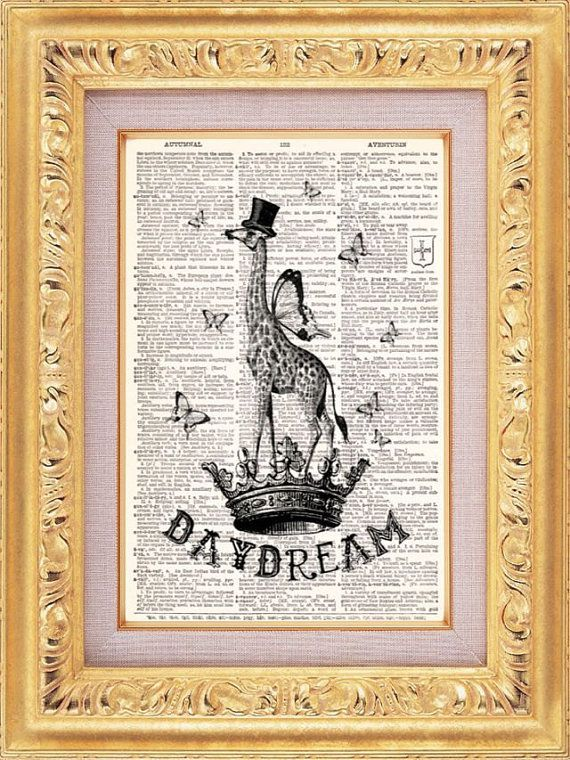 Daydream: Vintage Books Art, Books Prints, Vintage Book Art