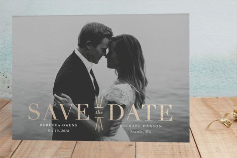 Mix   Mingle Foil Pressed Save The Date Cards by Lauren Chism at minted com