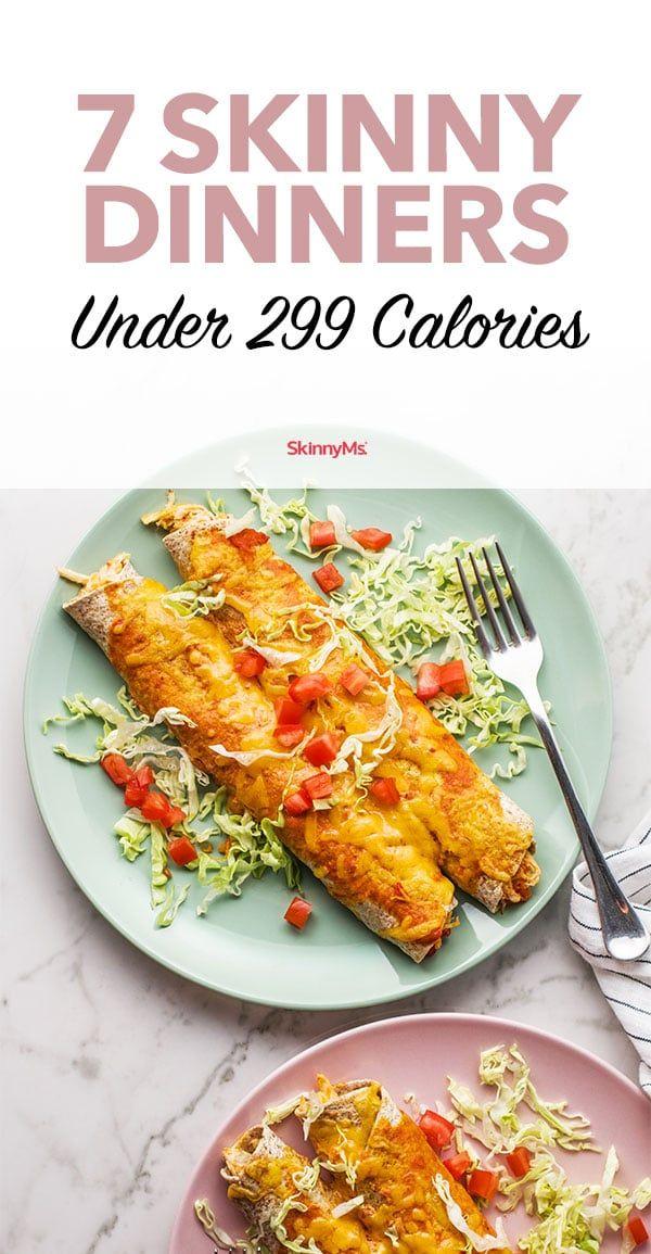 7 dünne Abendessen unter 299 Kalorien