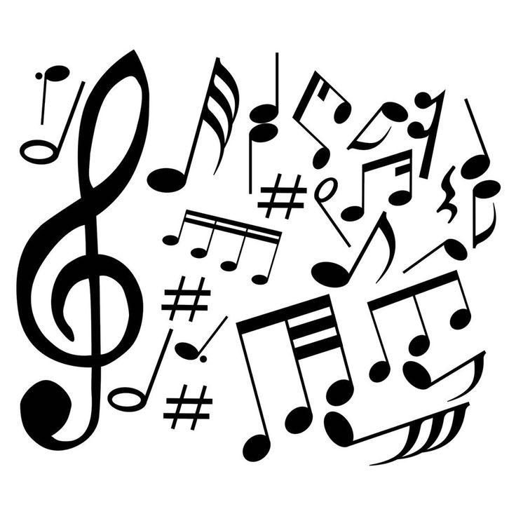 Das Notenornament mit dem dominanten Notenschlüssel ist eine besonders aufregende Wanddekoration für alle Musikfreunde.