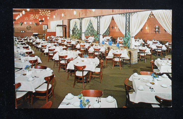 1970s restaurants | 1970s Interior Redwood Inn Restaurant Kankakee IL Postcard ...