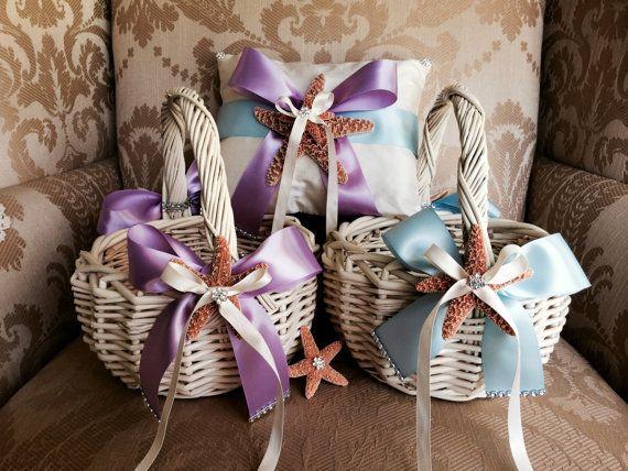 custom flower girl basket ring pillow by TheCrystalFlower on Etsy, $120.00