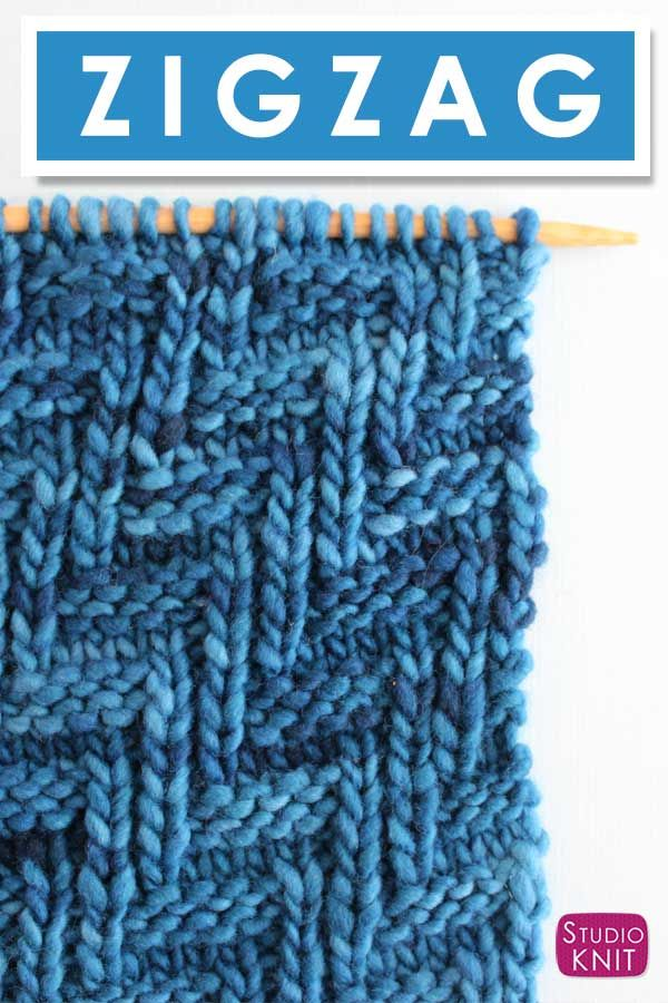 How To Knit The Diagonal Chevron Zigzag Knit Stitch Pattern Studio