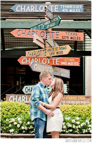 the green park charlotte nc charlotte sign poets corner engagement session photo