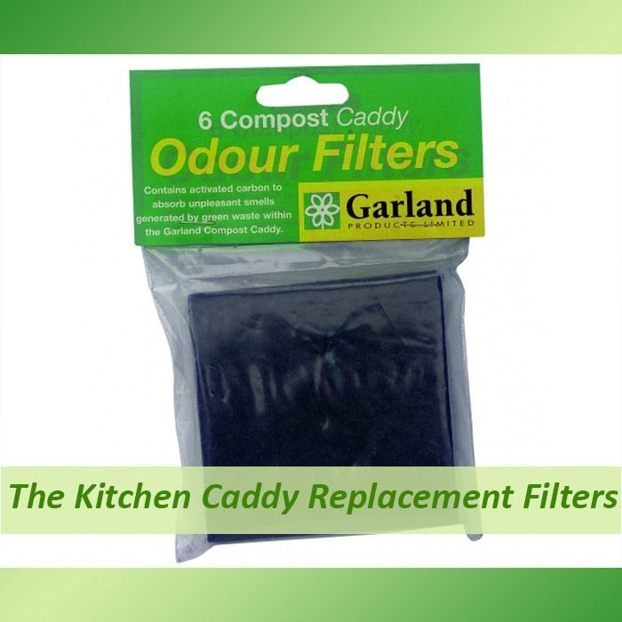 replacement carbon filters for the kitchen caddy compost buckets set of 6 replacement