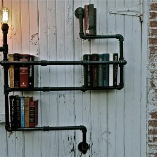 Best Mobiliario Galvanizado Images On Pinterest - Pipe bookshelves