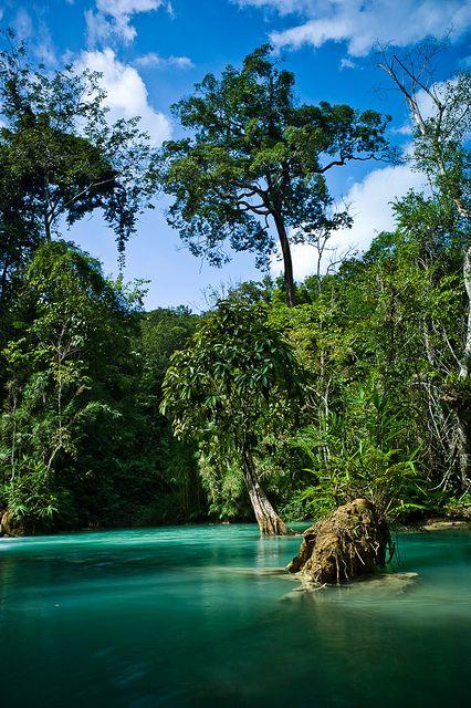 Natural pools at Kuang Si Falls, Luang Prabang, Laos