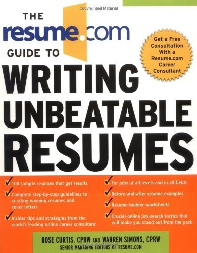 The Resume.Com Guide to Writing Unbeatable Resumes « LibraryUserGroup.com – The Library of Library User Group