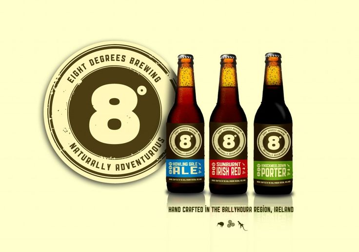 Irish craft beer from 8 Degrees Brewing. Made near Mitchelstown, Cork