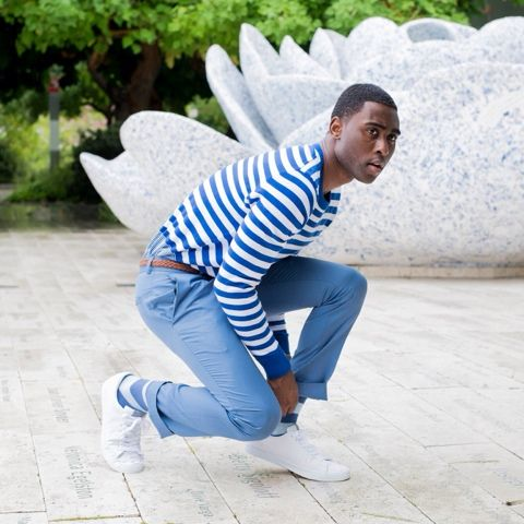 Blues Clues | SparksNStyle @Express knit sweater, @topman trousers and @hm trainers
