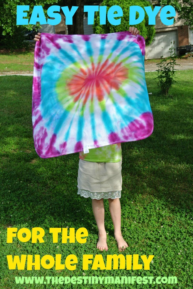 Easy tie dye for the entire family home the o 39 jays and for How to make tie dye shirts at home