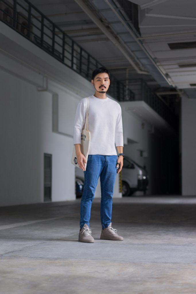 SHENTONISTA: From The Vine. Ken, Creative. Bag from Monocle, Jeans from Uniqlo, Top from ADAM ET ROPÉ, Shoes from Filling Pieces. #shentonista #theuniform #singapore #fashion #streetystyle #style #ootd #sgootd #ootdsg #wiwt #popular #people #male #female #womenswear #menswear #sgstyle #cbd #Monocle #Uniqlo #ADAMETROPE #FillingPieces