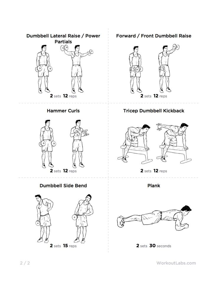 printable workout fullbody dumbbell circuit popsugar fitness