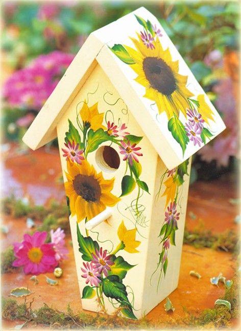 Sun Flower Bird House