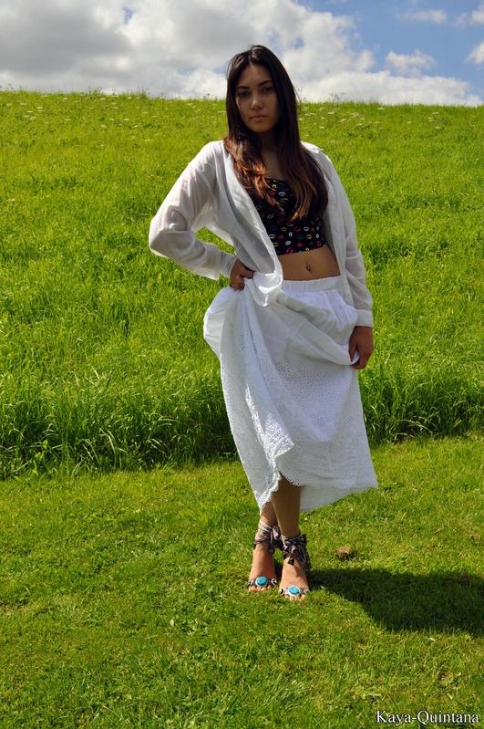 witte doorzichtige blouse h