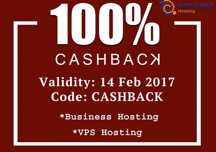 """Hi all! You get Best feature, discount and more deals on #BusinessHosting. Use coupon code """"CASHBACK"""" and get 100% discount, offer ends till 14th Feb 17 and Features   Instant Account Setup   Email Accounts   Anytime Money Back   Free SSL Certificate   1-Click Installer   E-Commerce Store   99.99% Uptime   Latest PHP & MySQL   Security & Daily Backup."""