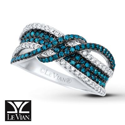 LeVian Ring 7/8 ct tw Diamonds 14K Vanilla Gold