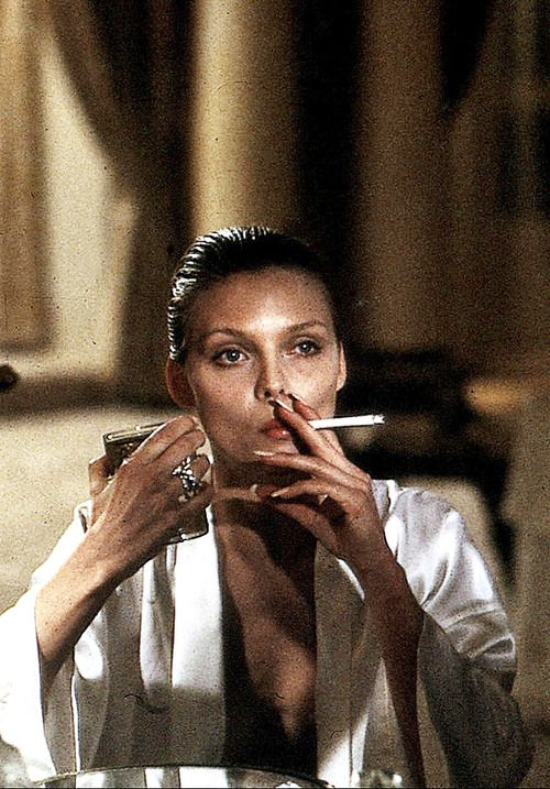 Michelle Pfeiffer in Scarface Love this shot..she looks so classy. Whatever filter was used on this really adds the feel to it. (For me anyway. )