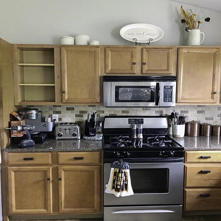 Modernizing Builder-Grade Kitchen Cabinets | Builder grade ...