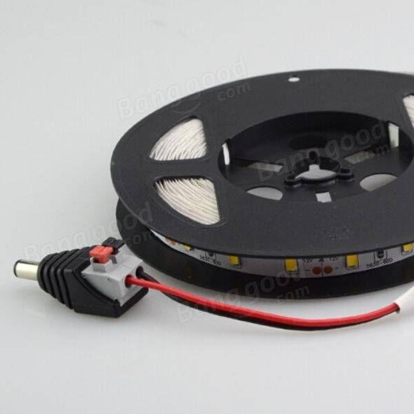 Dc poder feminino masculino 2.1 milímetros 5.5x cabo plugue adaptador de conector pressionado conectado para LED tiras 12v Venda - Banggood.com