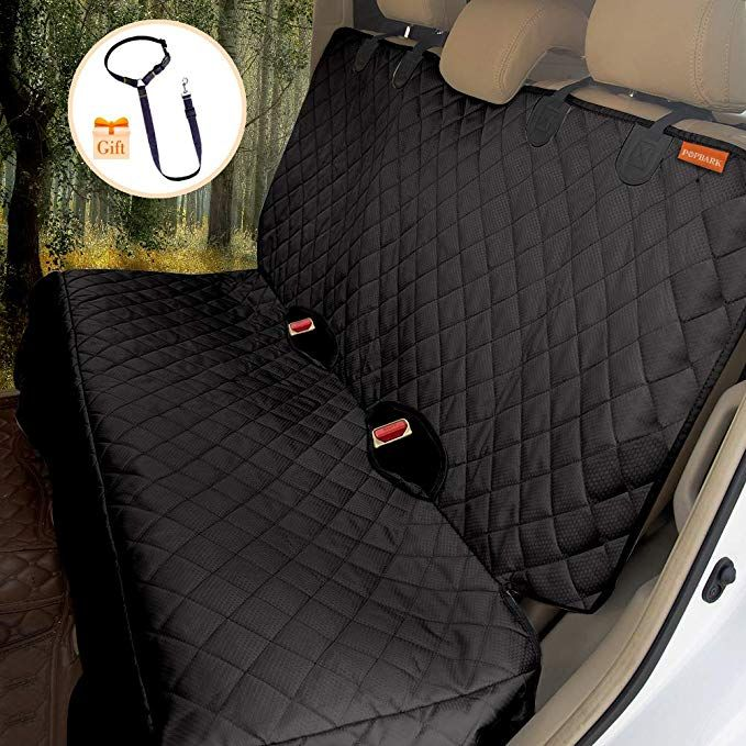 Popbark Dog Back Seat Cover Protector For Suvs Trucks Cars Vans Guaranteed Waterproof Heavy Duty Chemic Back Seat Covers Bench Seat Covers Animals For Kids