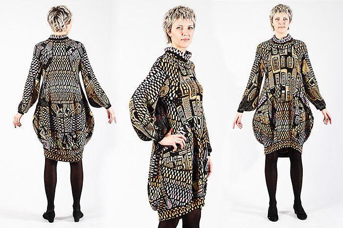 Трикотажное платье | Коллекция Городок