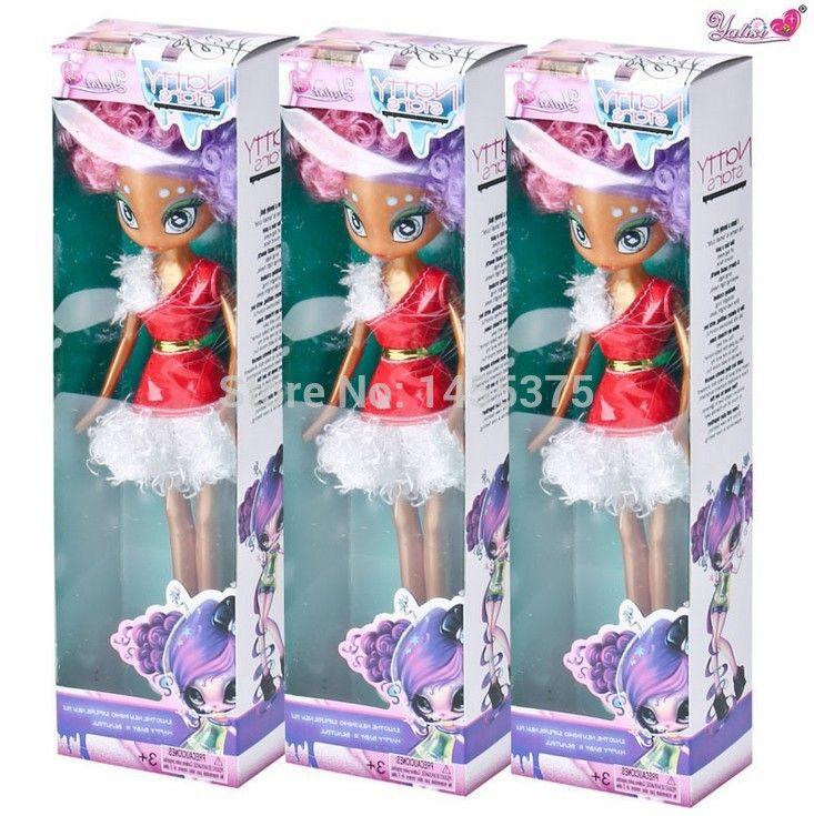 10pcs/lot 28cm Wholesale Plastic Novi Natty Stars Grils Chirstmas Birthday Dolls Toys Gifts, factory direct fashion space alien
