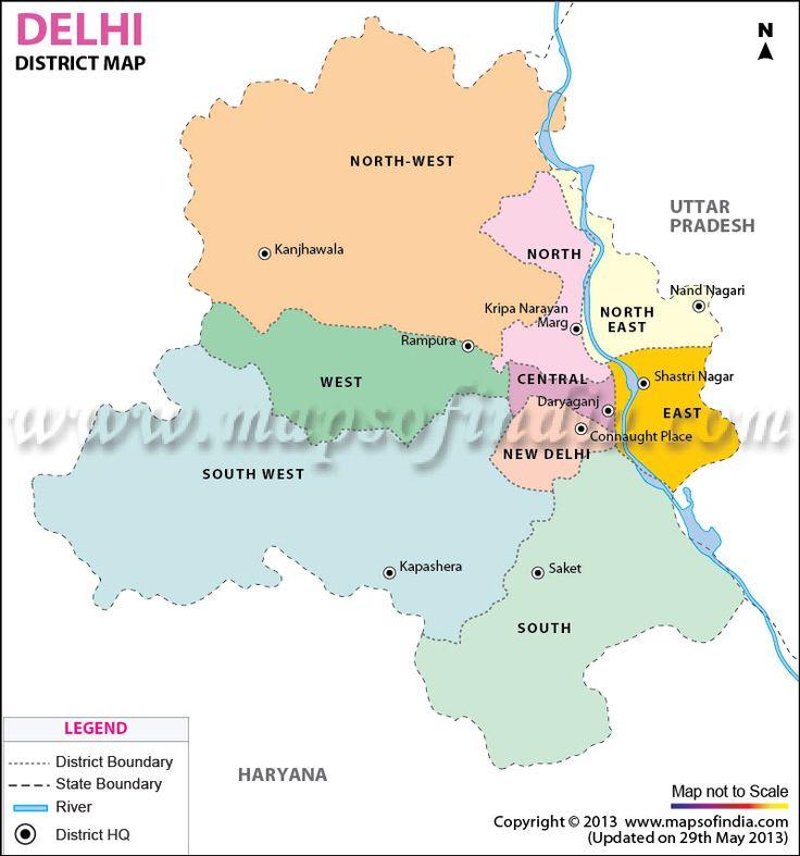 Delhi District Map