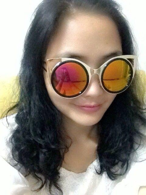 Vintage Yellow Cat Eye Sunglasses