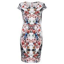 Betty Barclay White Flower Print Pattern Dress