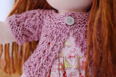 Free pattern for February Doll Sweater - mini version of the Elizabeth Zimmerman Feb Baby sweater / Pamela Wynne Feb Lady Sweater. CUTE!