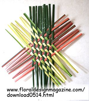 DIY  triaxial weaving using plant material such as New Zealand flax. Learn how at  www.floraldesignmagazine.com/download0514.html  #weaving #DIY