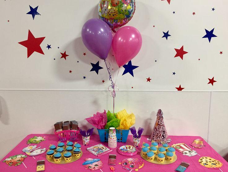 Shopkins theme party diy ideas. Sophie's 8th birthday.