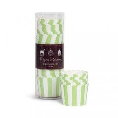 Θήκες για cupcakes ριγέ πράσινες