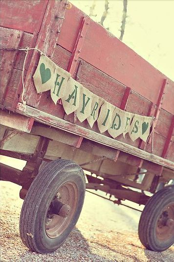 love hayrides!  Crisp air, warm blankets, lots of laughter and singing, holding hands....