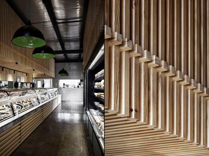 Креативный дизайн продуктового магазина и кафе Cannings Free Range Butcher в Австралии