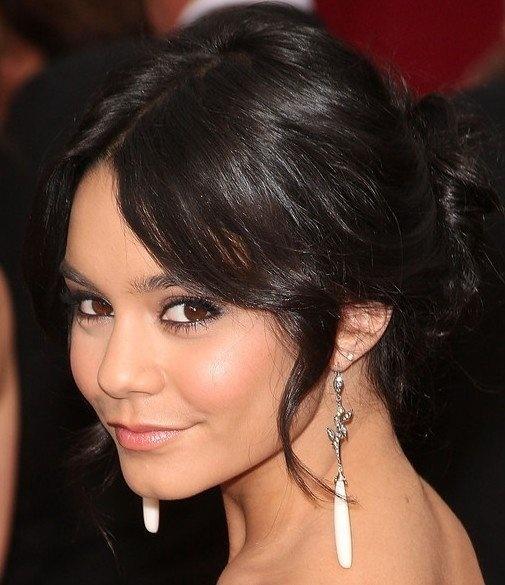 Vanessa Hudgens Twisted Bun Updo | Beauty & Fashion | Long ...